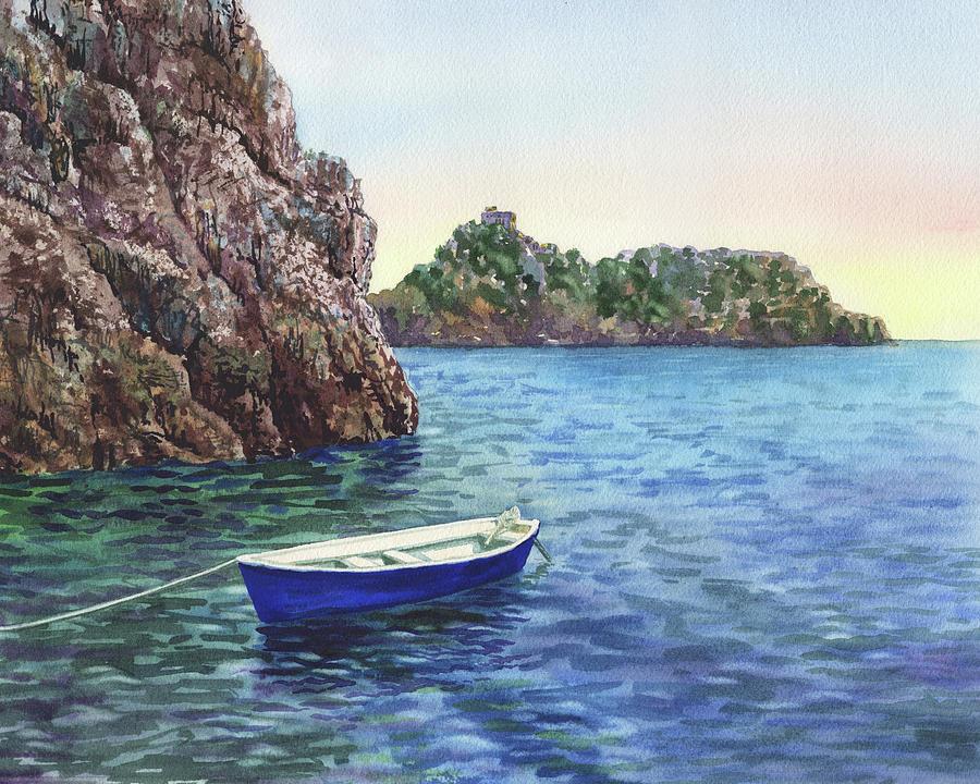 Amalfi Coast Grotto Emeraldo Mediterranean Sea Shore  by Irina Sztukowski