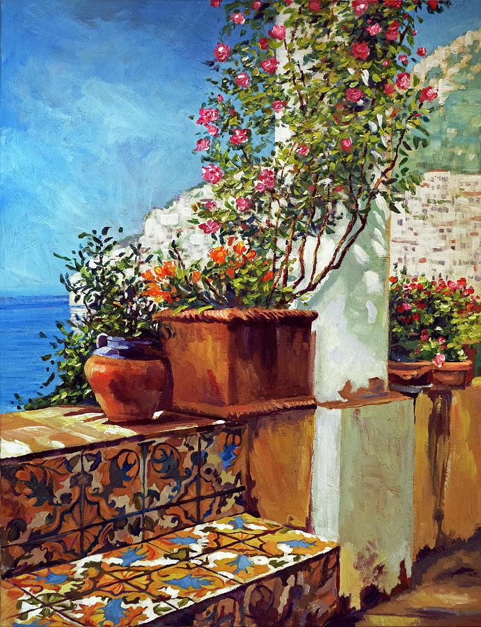 Landscape Painting - Amalfi Coast Impressions by David Lloyd Glover