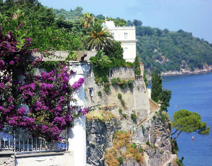 Italy Photograph - Amalfi Coast Sorrento Cliff Italy Shore  by Irina Sztukowski