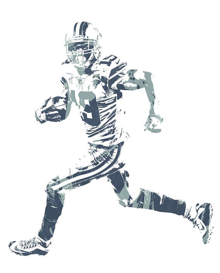 Cowboys Mixed Media - Amari Cooper Dallas Cowboys Pixel Art 3 by Joe Hamilton