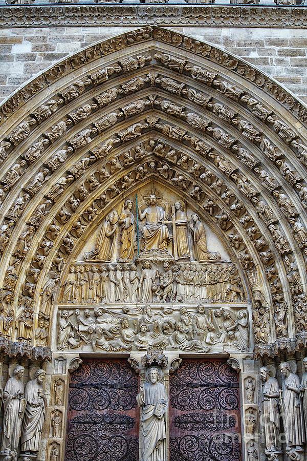 Amazing Entry Architectural Details Cathedral Notre Dame de Paris France by Wayne Moran