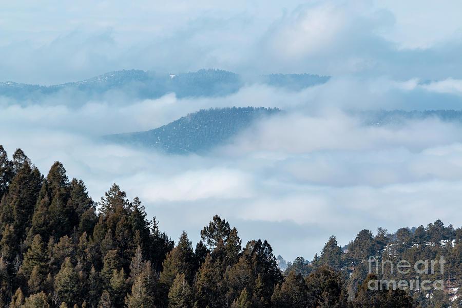 Amazing Fog Bank In The Colorado Rockies Photograph
