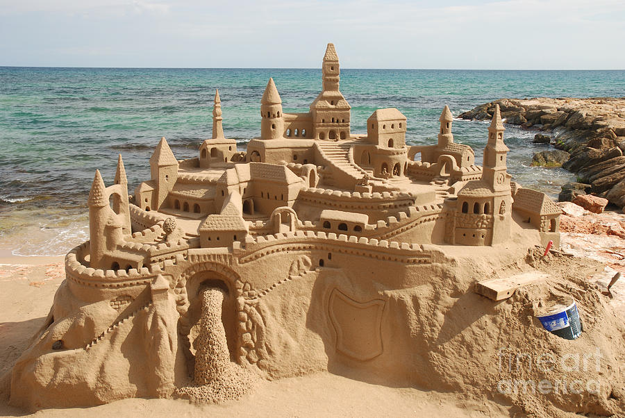 Magic Photograph - Amazing Sandcastle On A Mediterranean by Philip Lange