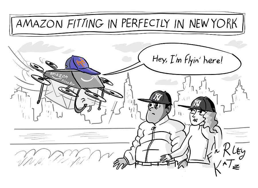 Amazon Fitting In Perfectly Drawing by Farley Katz