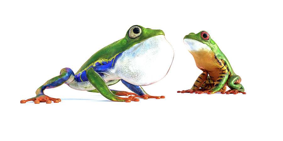 Amazon Frog Friends Digital Art