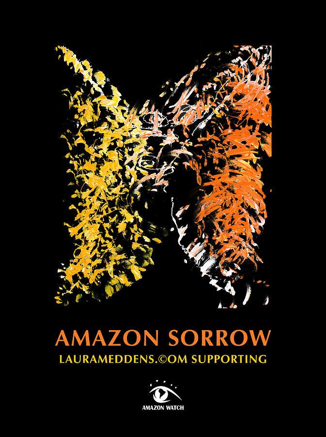 Amazon Painting - Amazon Sorrow by Laura Meddens