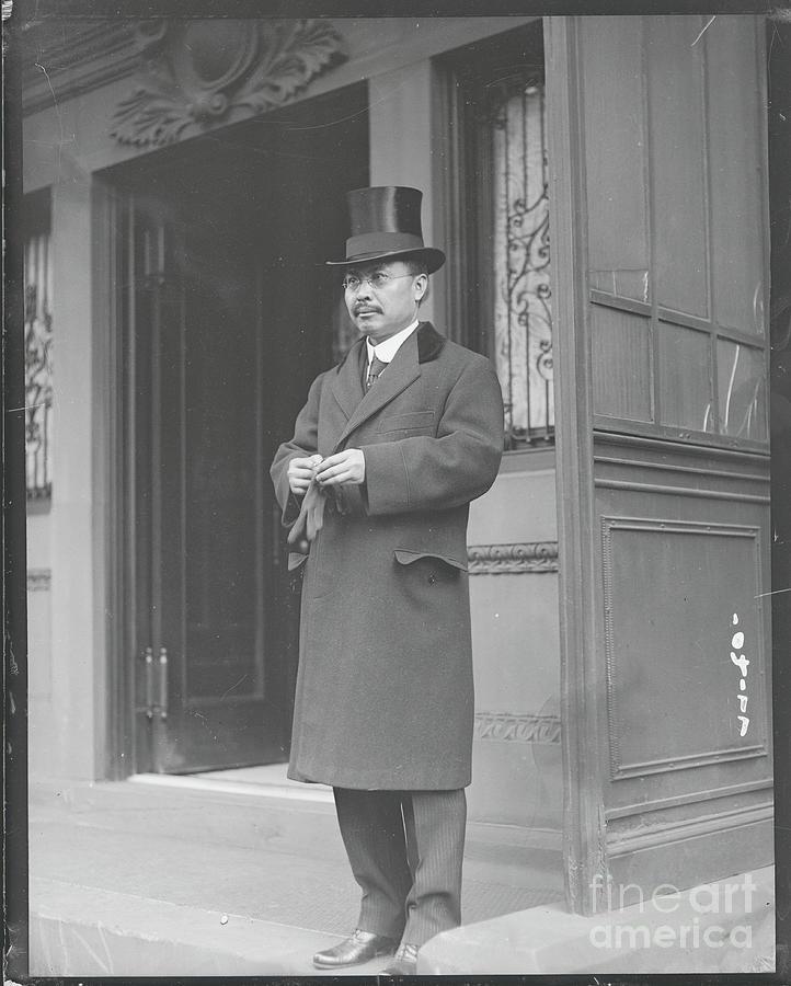 Ambassador Kijuro Shidehara On Doorsteps Photograph by Bettmann