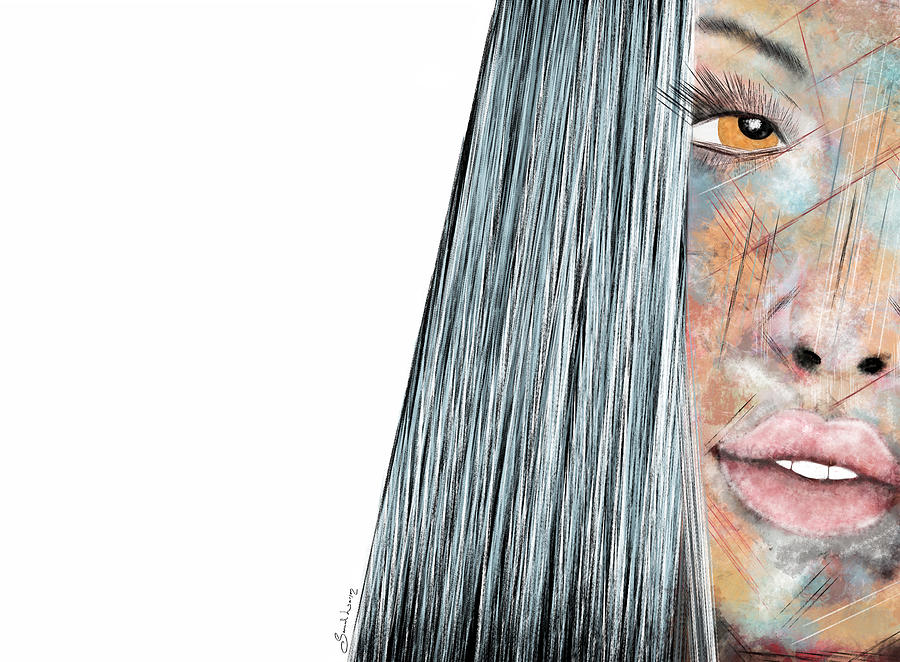 Amber Rose - Woman Abstract Art by Sannel Larson