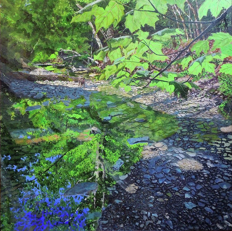 Nature Painting - Amberley Creek 3 by Thomas Stead