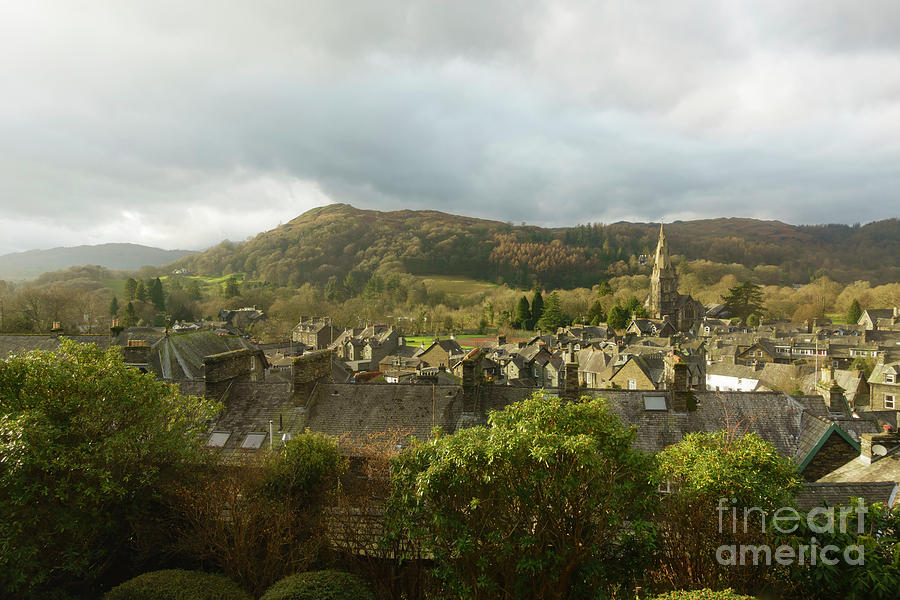 Ambleside Photograph - Ambleside Rooftops In The Lake District National Park by Louise Heusinkveld