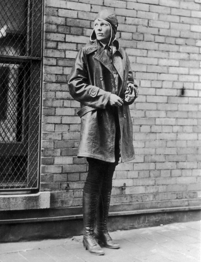 Amelia Earhart Photograph by Topical Press Agency