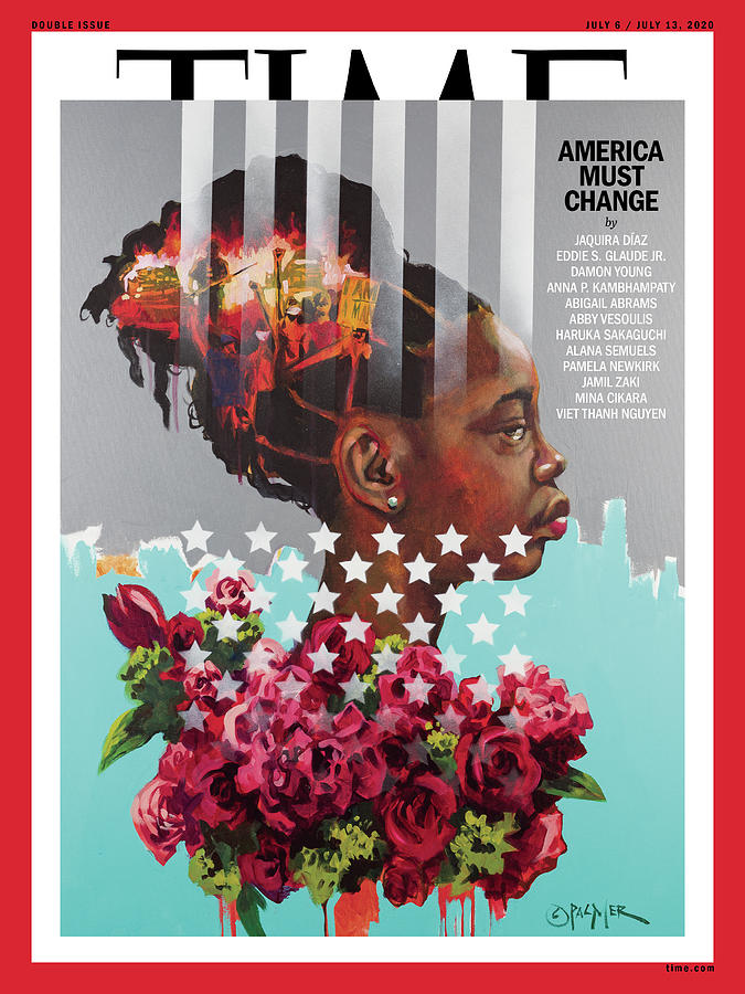 Race Photograph - America Must Change Time Cover by Painting by Charly Palmer - Photograph by Travis Grissom