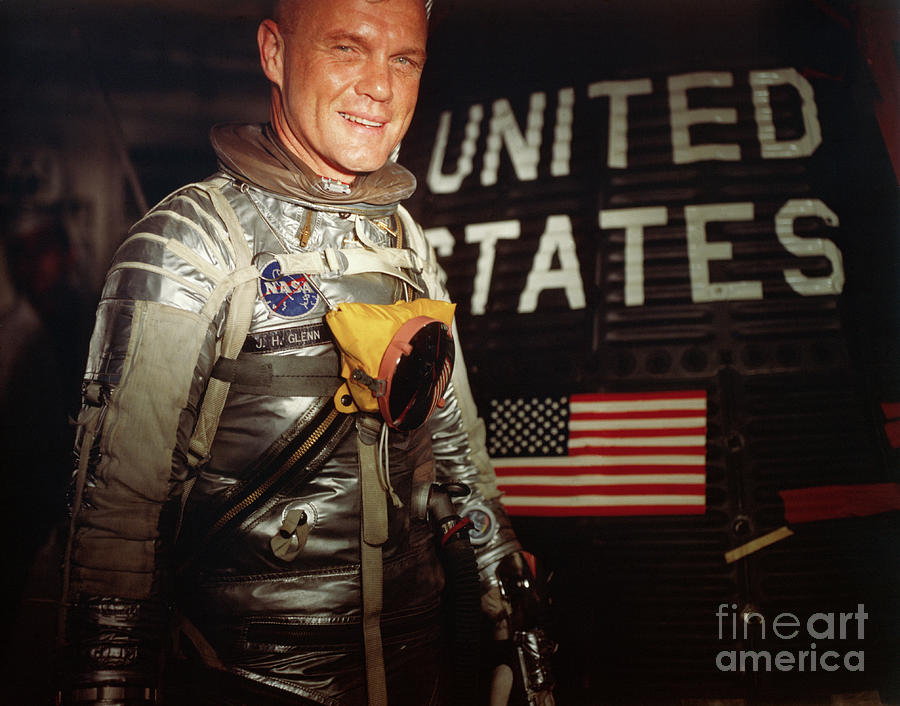 American Astronaut John Glenn Entering Photograph by Bettmann