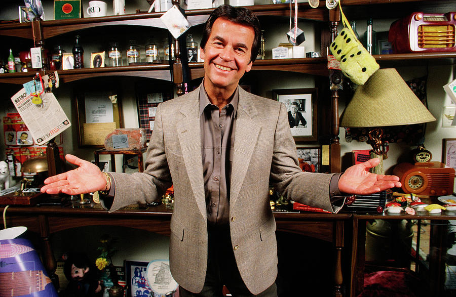 American Bandstands Dick Clark Portrait Photograph by George Rose