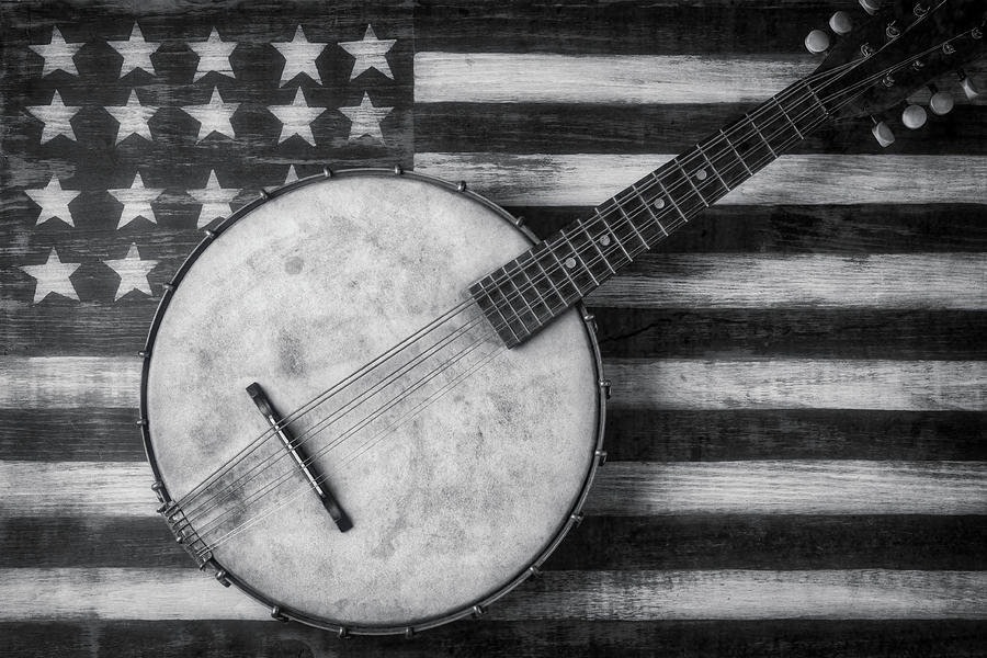 American Photograph - American Banjo Black And White by Garry Gay