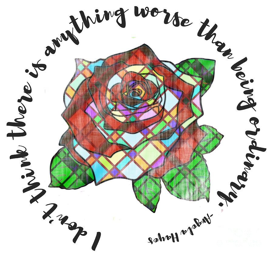 American Beauty Stained Glass Rose by Priscilla Wolfe
