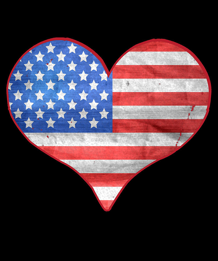 American Flag Heart by Flippin Sweet Gear