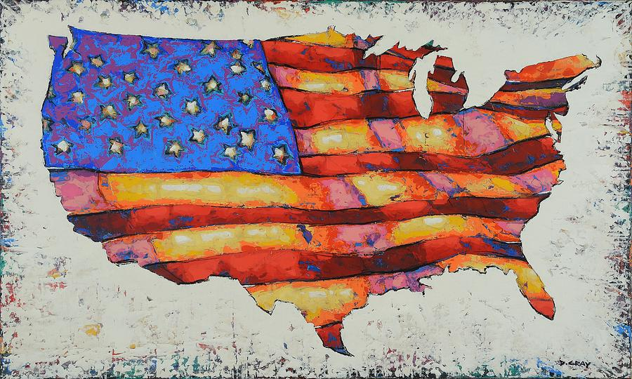 American Flag in Color by Damon Gray