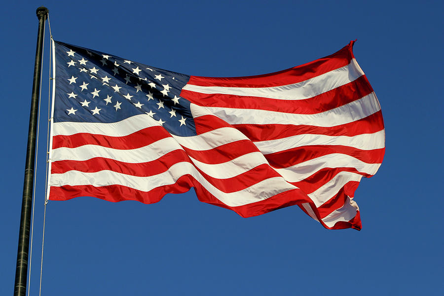 American Flag Photograph by Jung-pang Wu