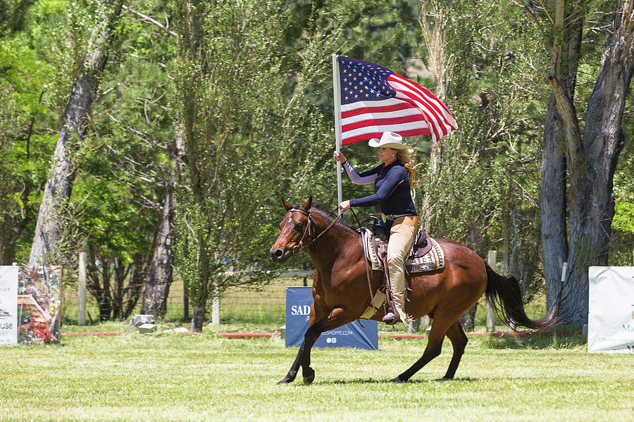 American Flag with Rider by Anett Mindermann