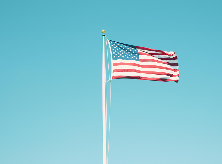 American Flag With Vintage Look Photograph by William Andrew