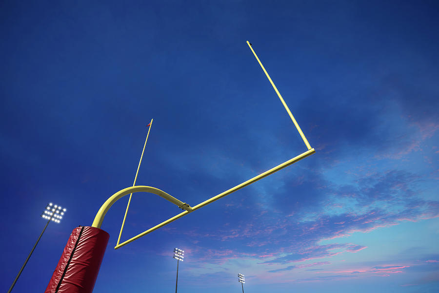 American Football Goalpost At Sunset Photograph by David Madison