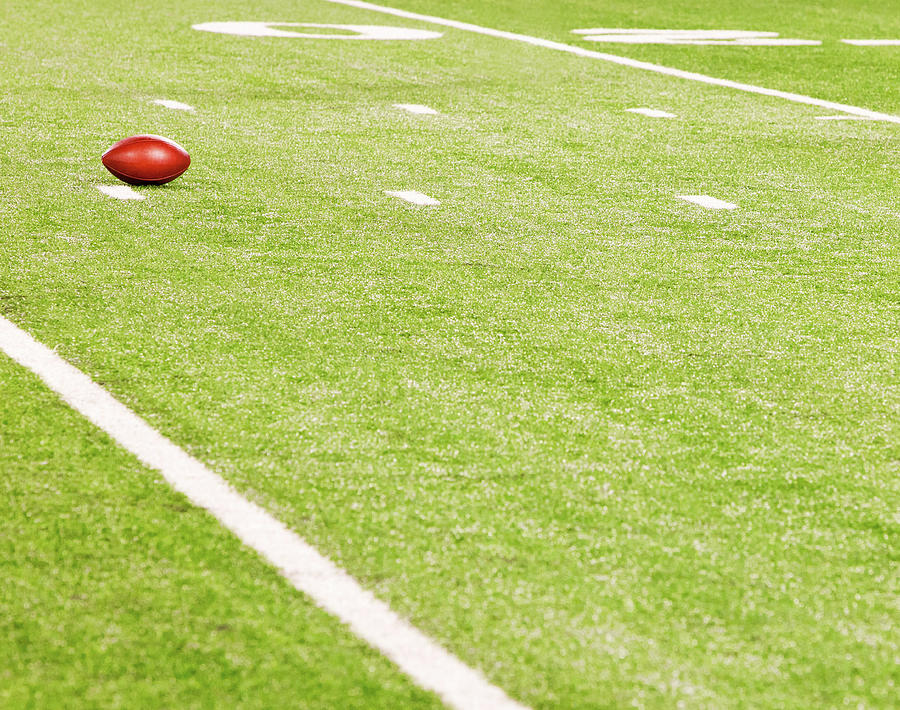American Football On Field Photograph by William Andrew