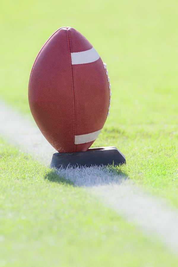 American Football On Kicking Tee Photograph by David Madison