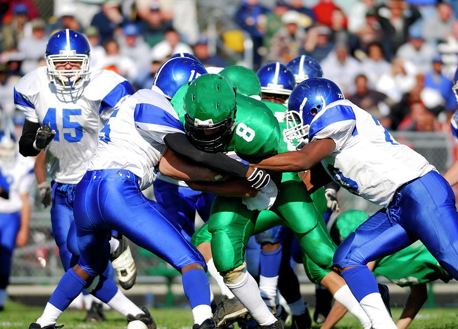 American High School Football Photograph by Groveb