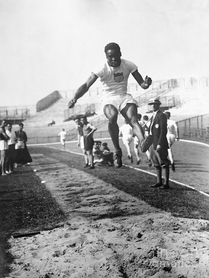 American Hubbard Wins Olympic Long Jump Photograph by Bettmann