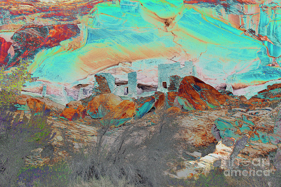 American Indian Home In Abstract Photograph by Mae Wertz