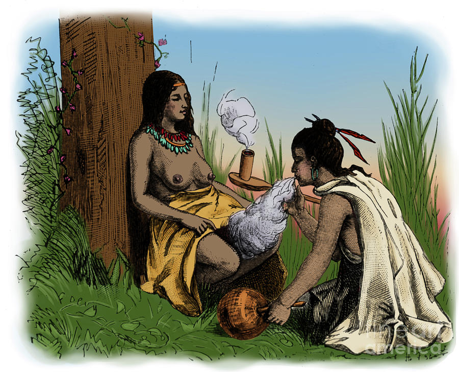 American Indian Midwife by Science Source