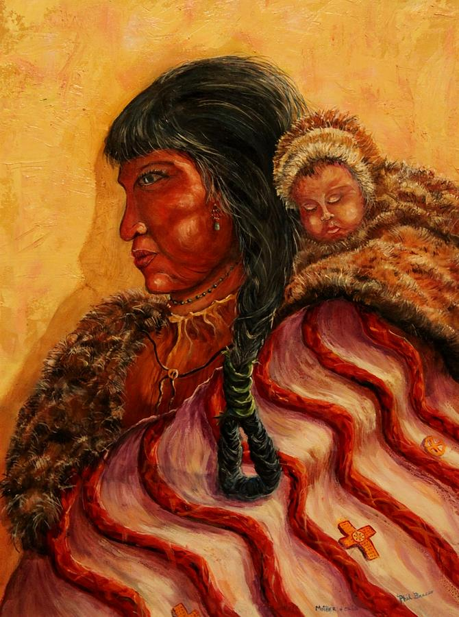 American Indian Mother and Child by Philip Bracco
