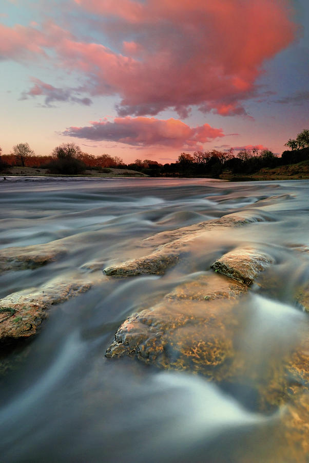 American River Parkway At Sunset Photograph by David Kiene