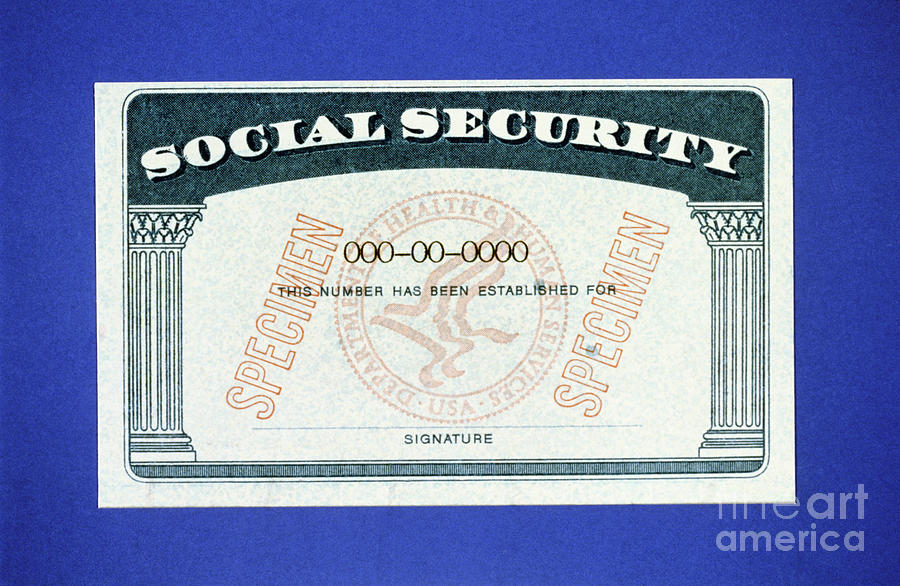 American Social Security Card Photograph by Bettmann
