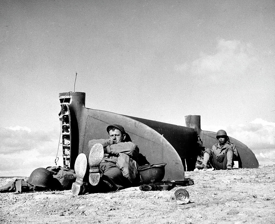American Soldiers In Tunisia Wwii Photograph by Margaret Bourke-white