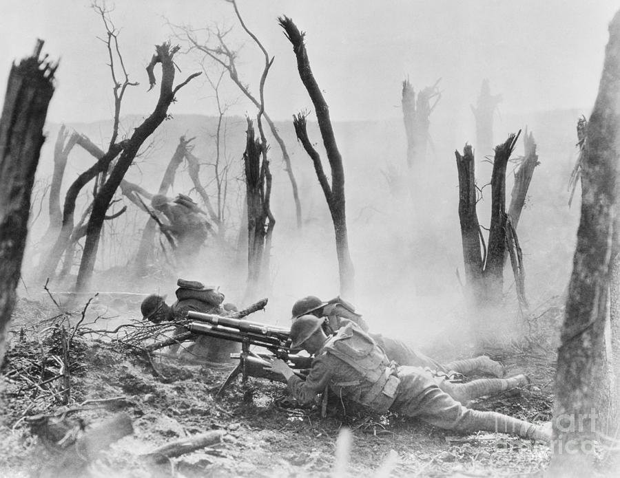 American Soldiers On The Western Front Photograph by Bettmann