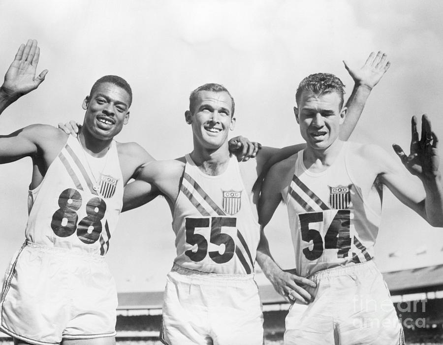 Americans Sweep Olympic 200 Meters Photograph by Bettmann
