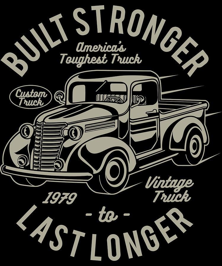 Distressed Digital Art - Americas Toughest Truck by Passion Loft