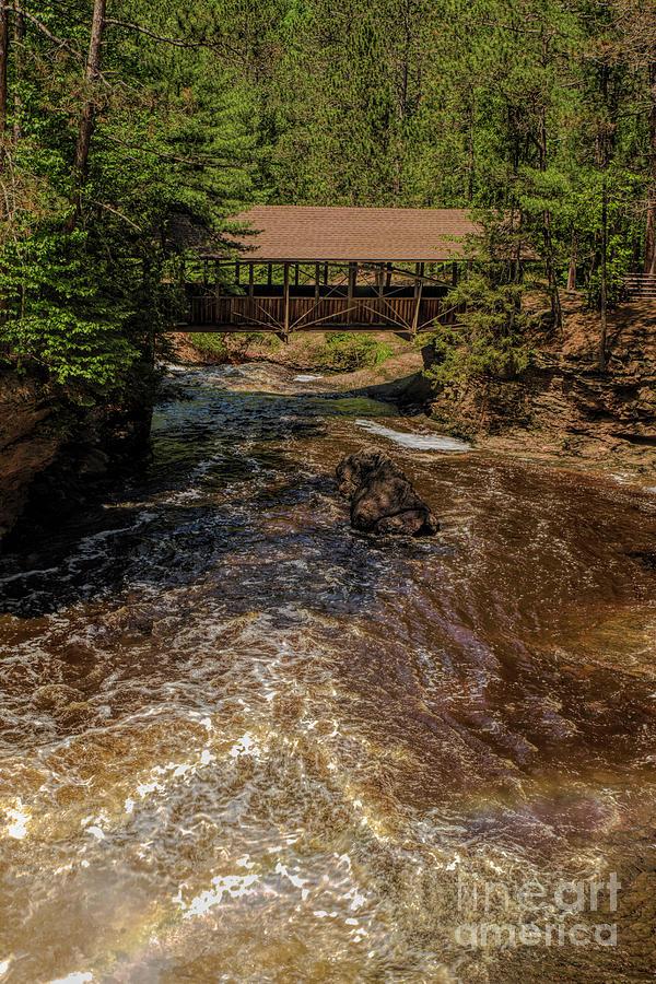 Amnicon Falls State Park Covered Footbridge Photograph