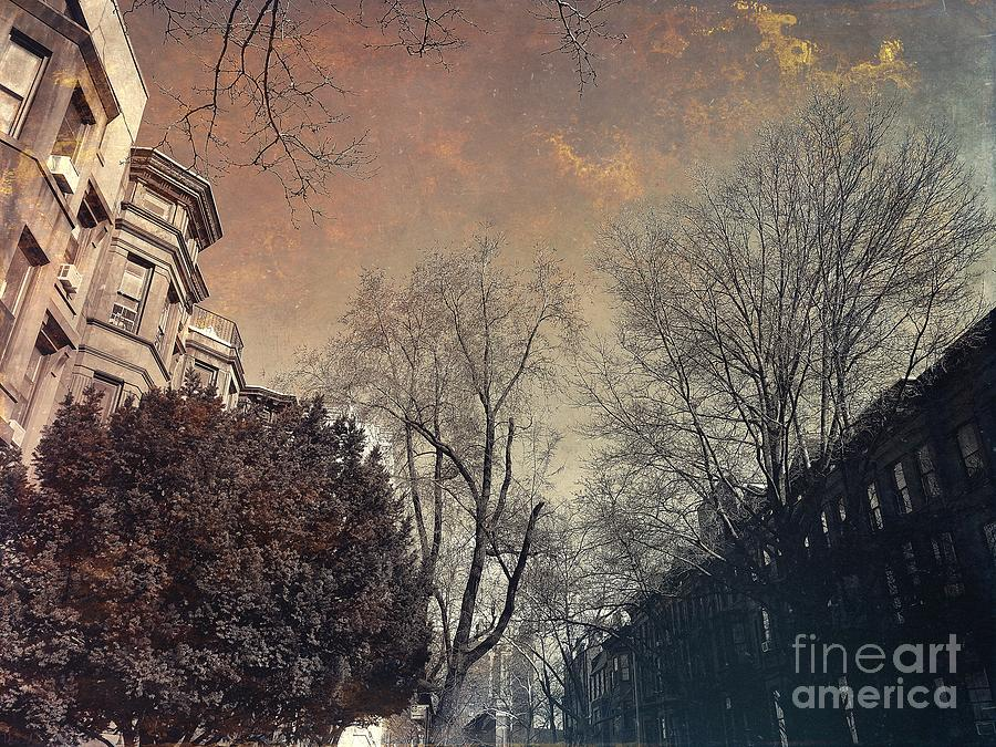 Among the Brownstones - Gift for New Yorkers by Onedayoneimage Photography