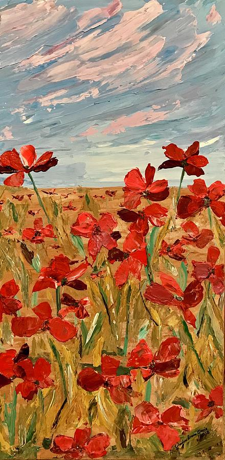 Among the poppies.   2 of 2 by Ovidiu Ervin Gruia