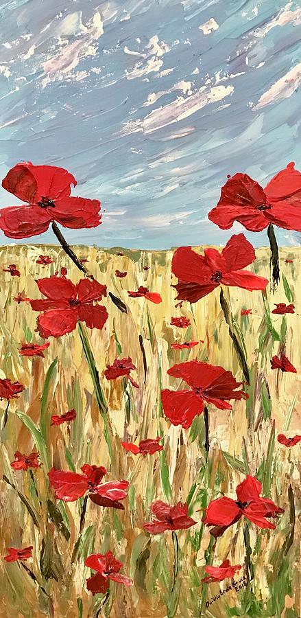 Among the poppies     1 of 2 by Ovidiu Ervin Gruia