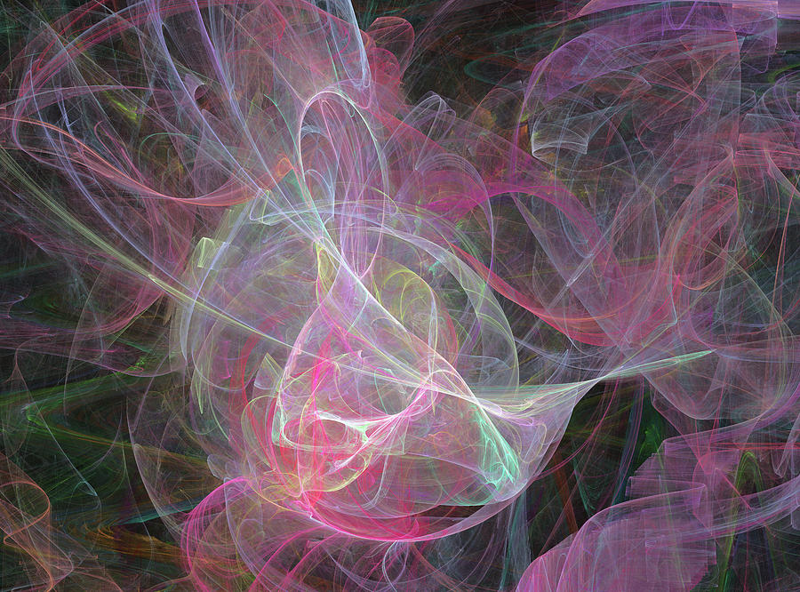 Fractal Digital Art - Ampersand In Love by Betsy Knapp