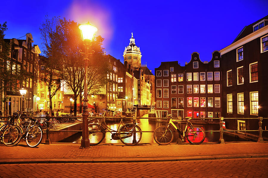 Amsterdam At Night Photograph by Nikada