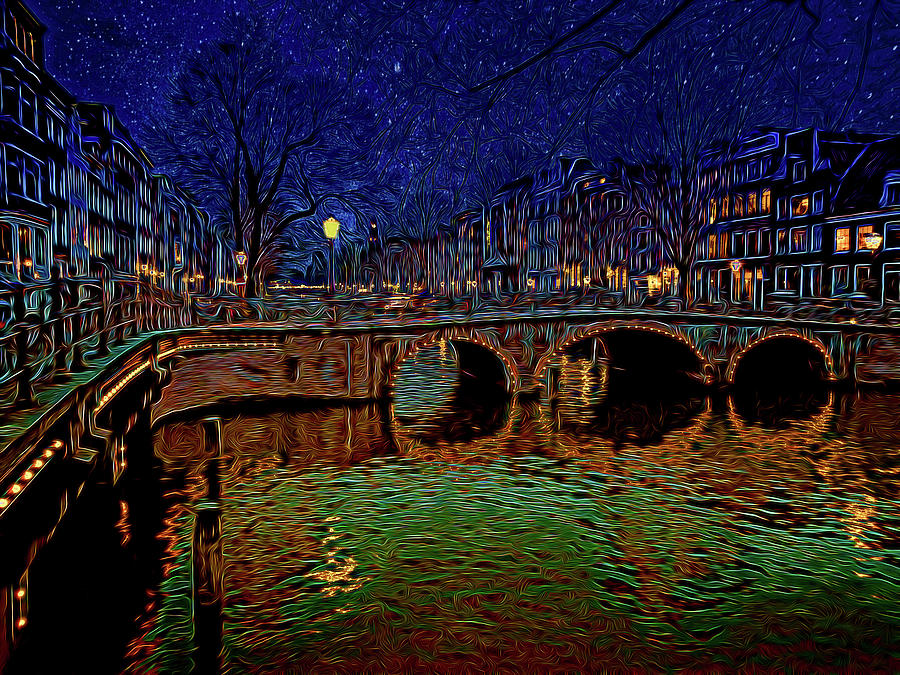 Amsterdam At Night Photograph