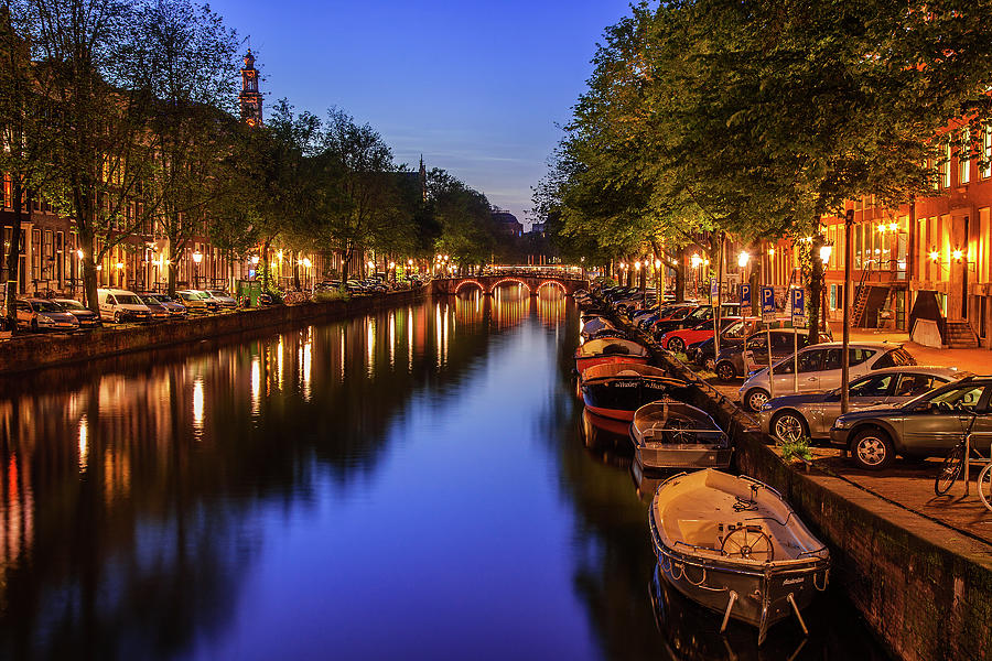 Amsterdam Photograph - Amsterdam At Twilight by Andrew Soundarajan