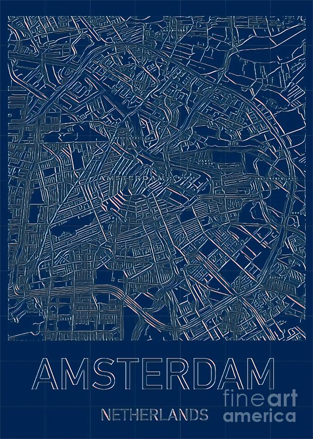 Amsterdam Blueprint City Map