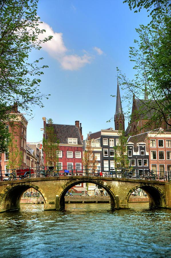 Amsterdam City Scene Water Canal Photograph by Aleksandargeorgiev