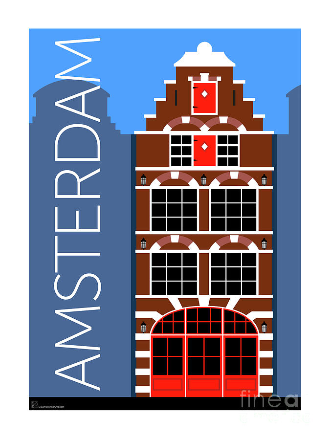 Amsterdam House Blue by Sam Brennan